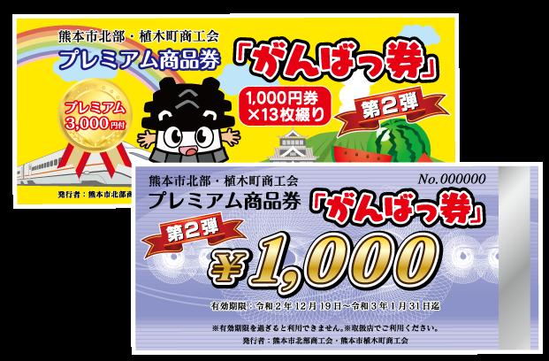 がんばっ券1000円×13枚綴り プレミアム商品券1000円